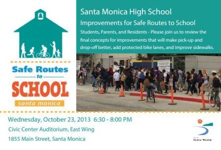 Samohi Safe Routes to School Workshop October 23