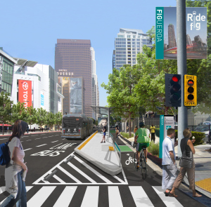 Rendering of the proposed My Figueroa complete streets project.
